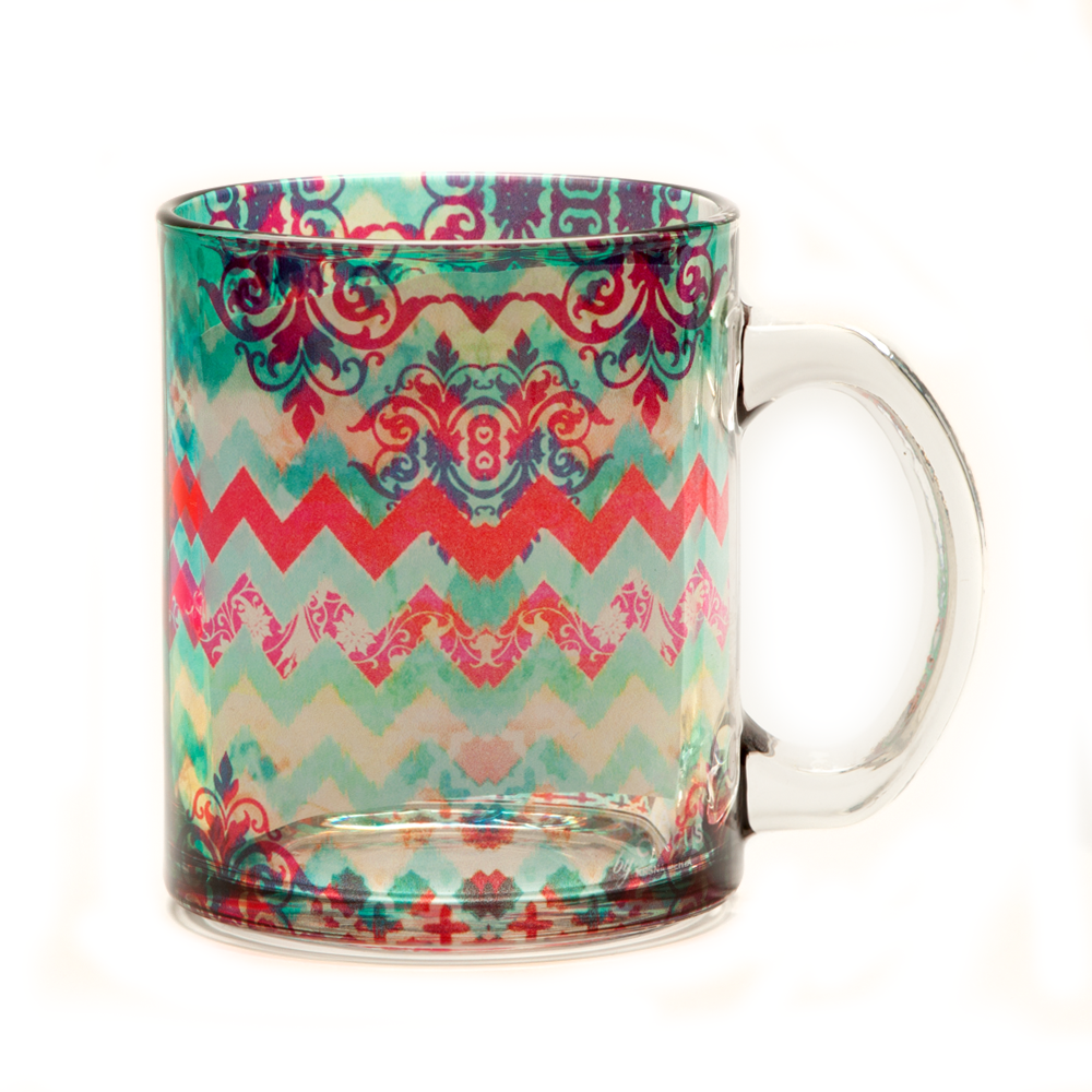Colorful Streamer Glass Mug
