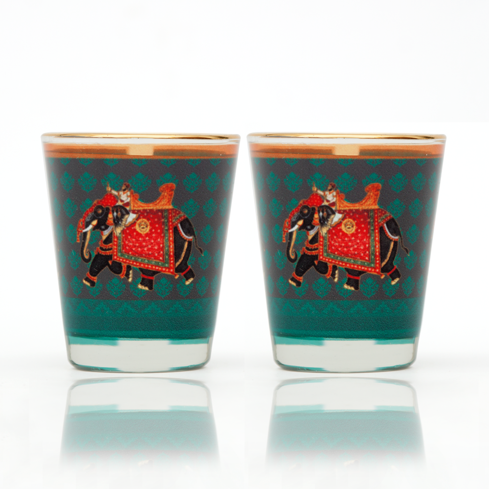 Embellished Elephant Shot Glass