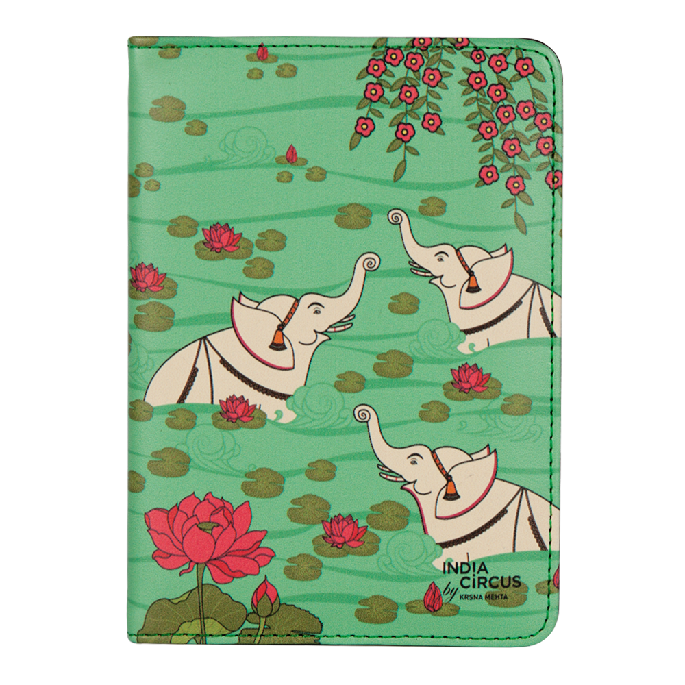 Elephant Bath Passport Cover