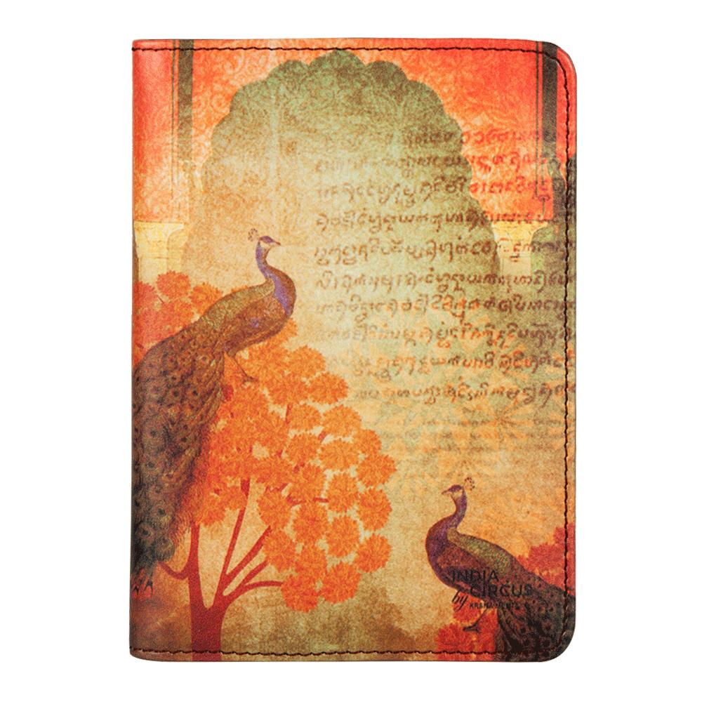 Sunset Peacocks Passport Cover