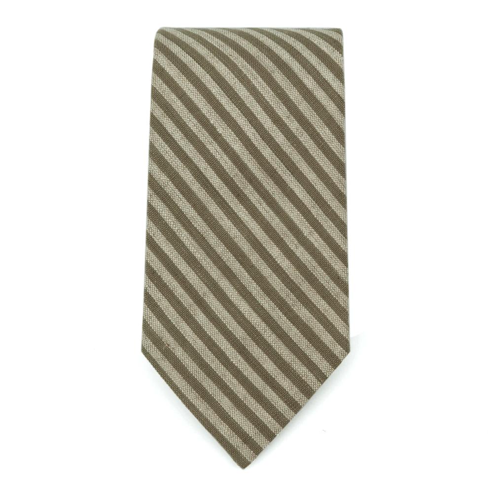 Olive Stipes Tie