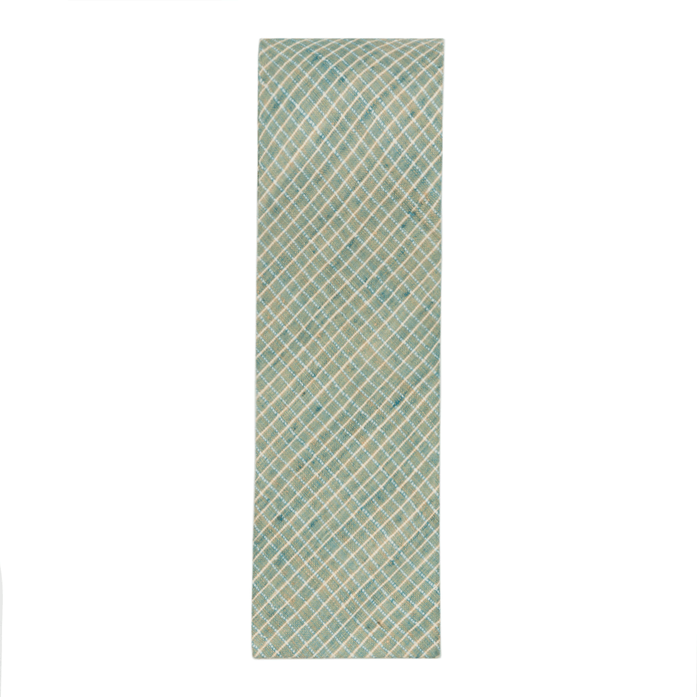 Teal Checks Tie