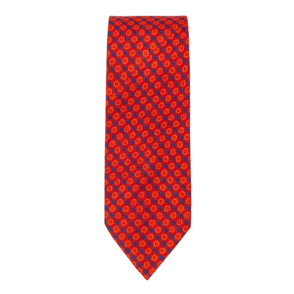 Bright Red Yellow Slim Tie