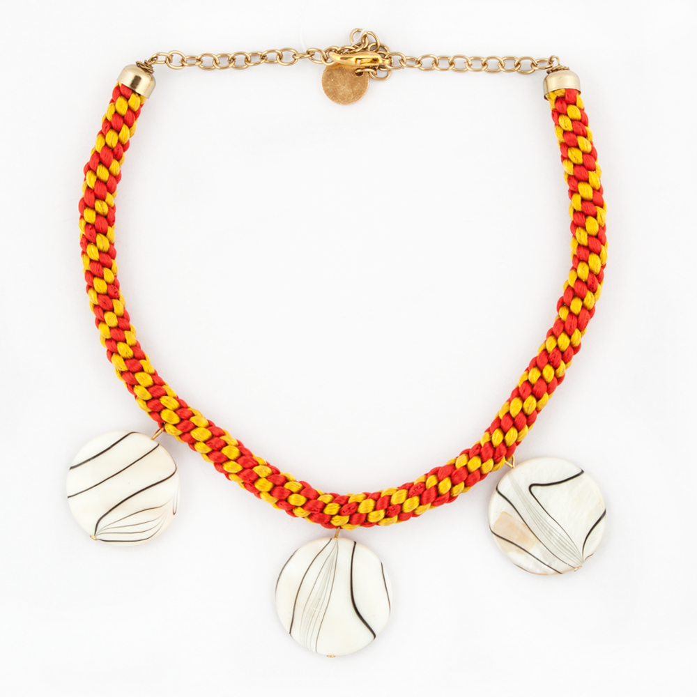 Yellow-Red Necklace