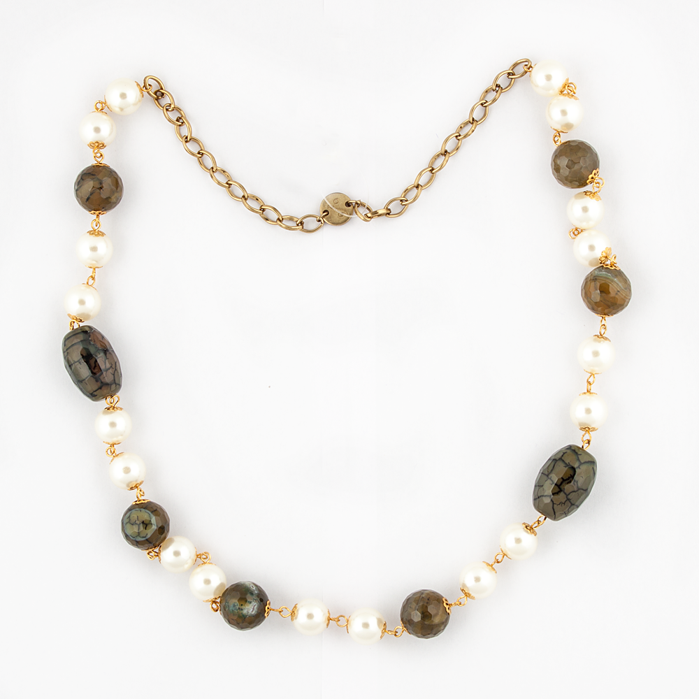 Pearl & Semi Precious Stones Necklace