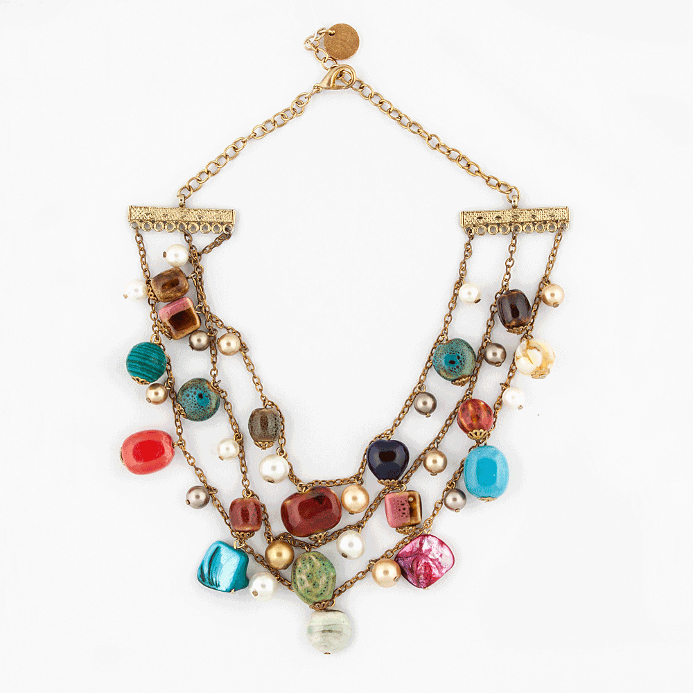 Multi Color Stones Necklace