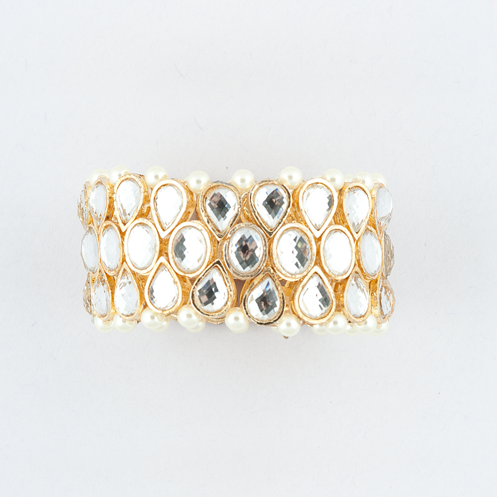 Kundan-Pearl Bracelet