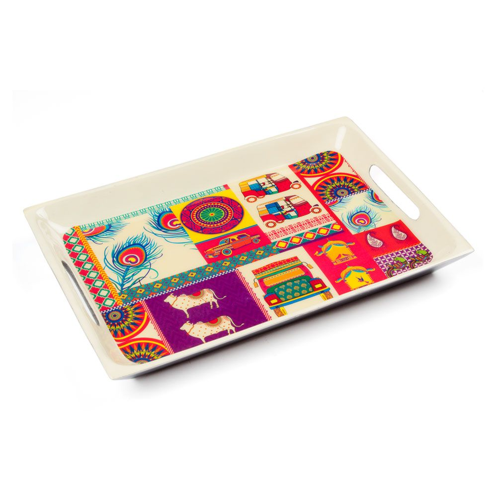 Pretty Potpourri Rectangle Serving Platter
