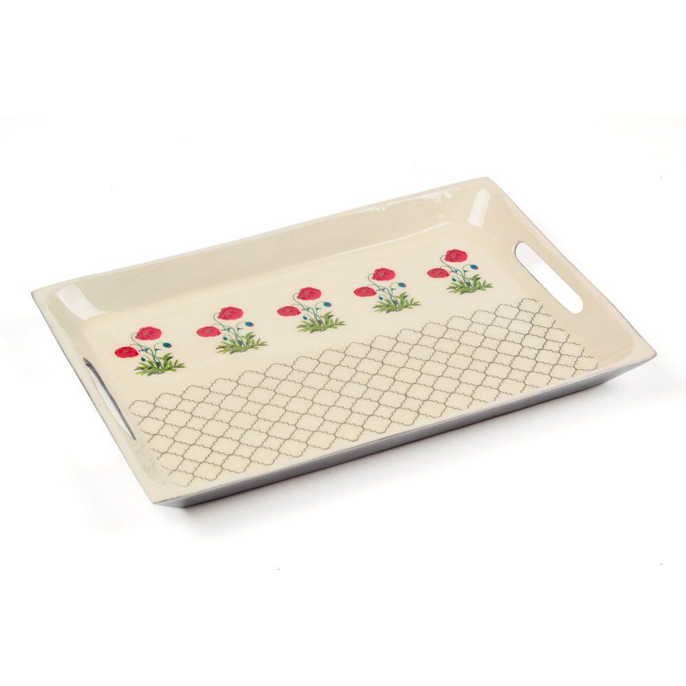 Floral Twinkles Rectangle Serving Platter