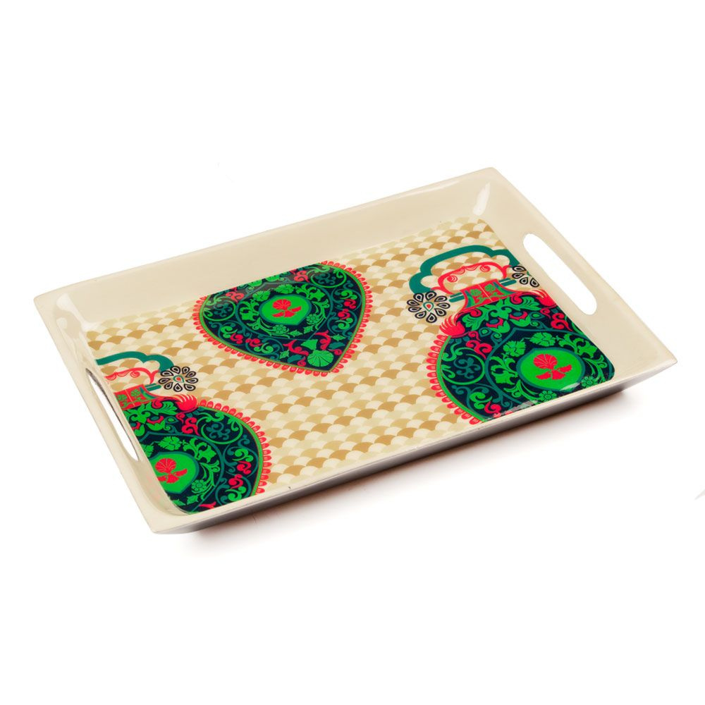 Floral Flavours Rectangle Serving Platter