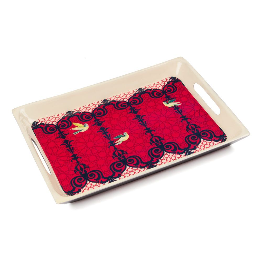 Flight of Birds Rectangle Serving Platter