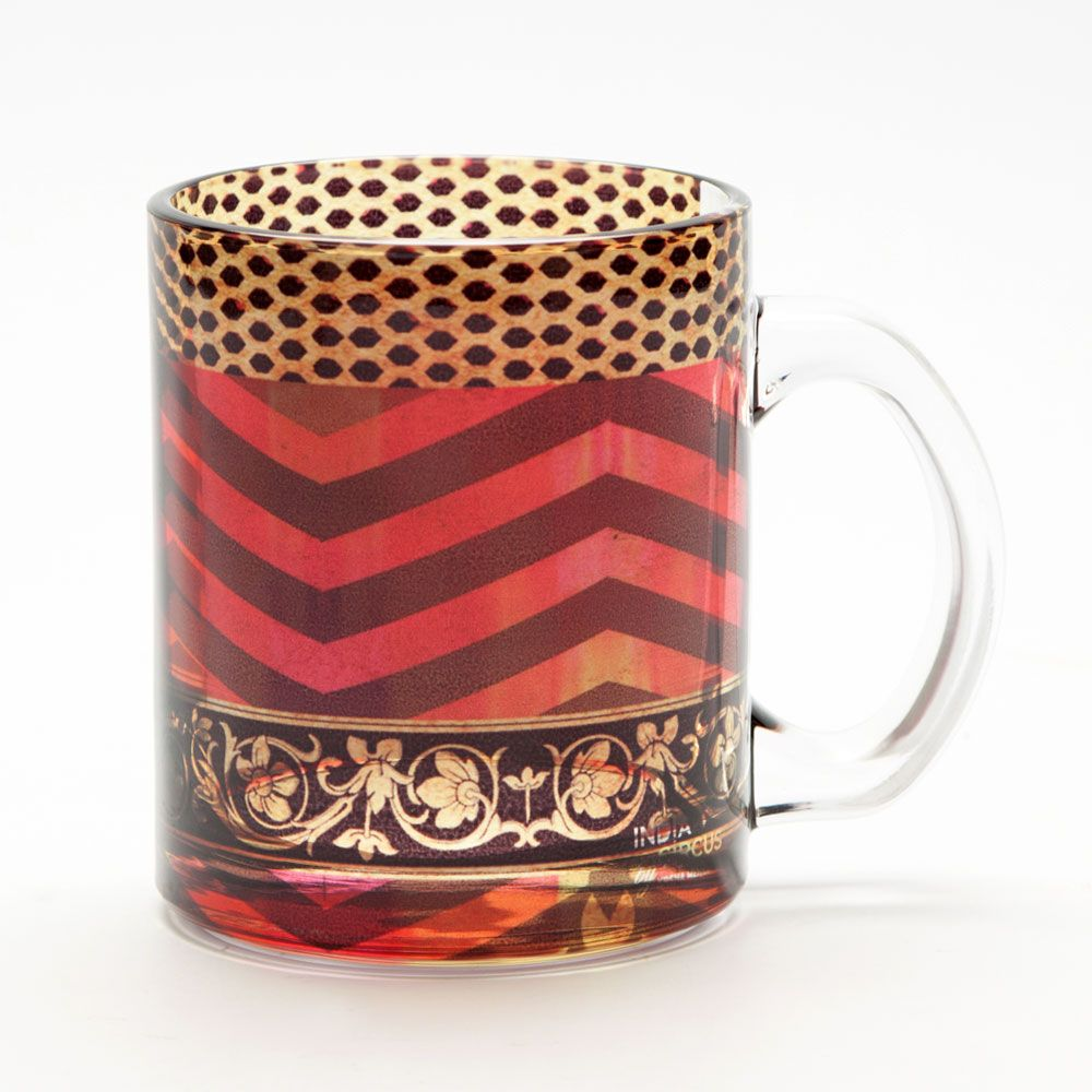 Rickrack Glass Mug