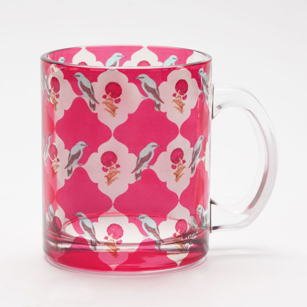 Interlaced Bouquet Glass Mug
