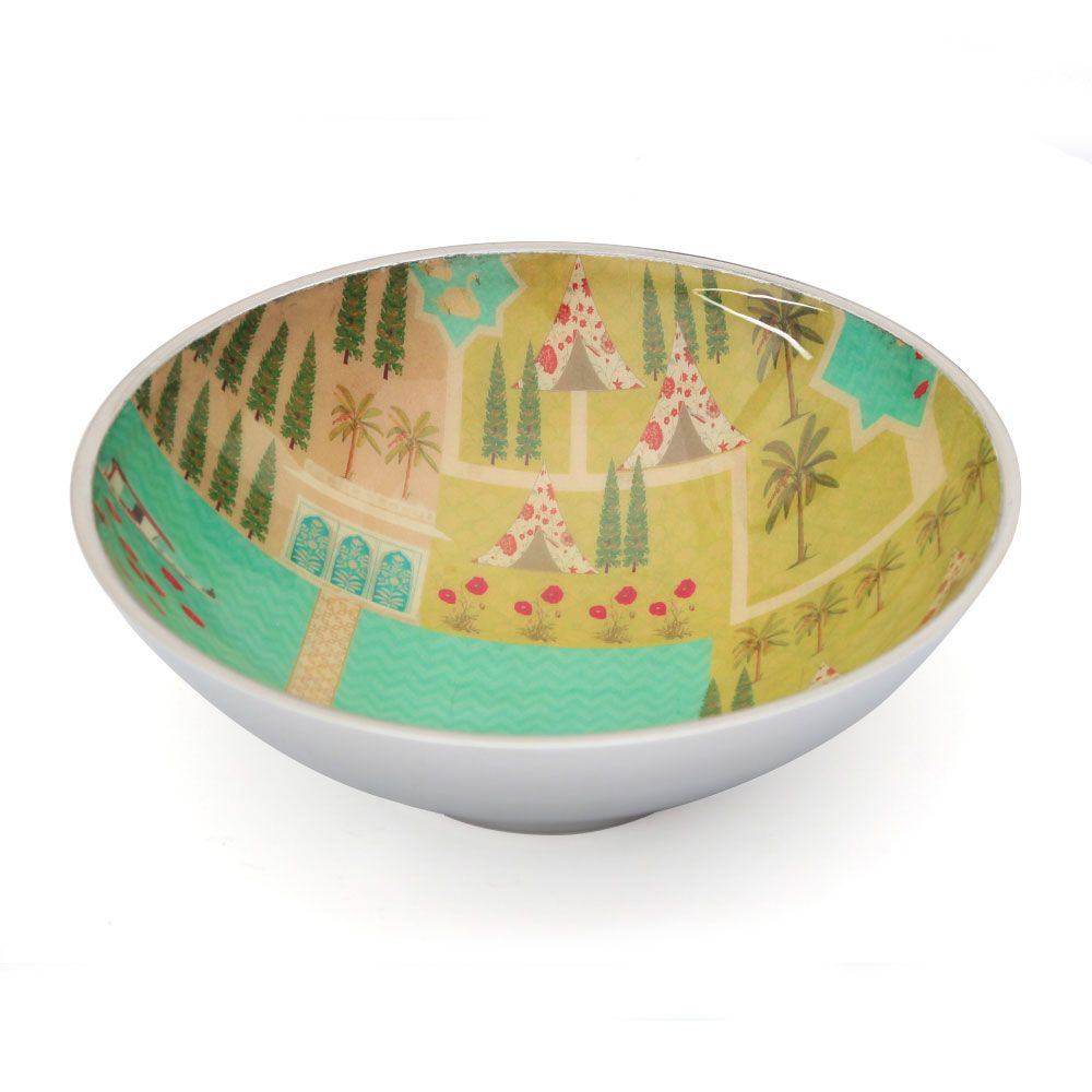 Maze Garden Aluminium Serving Bowl