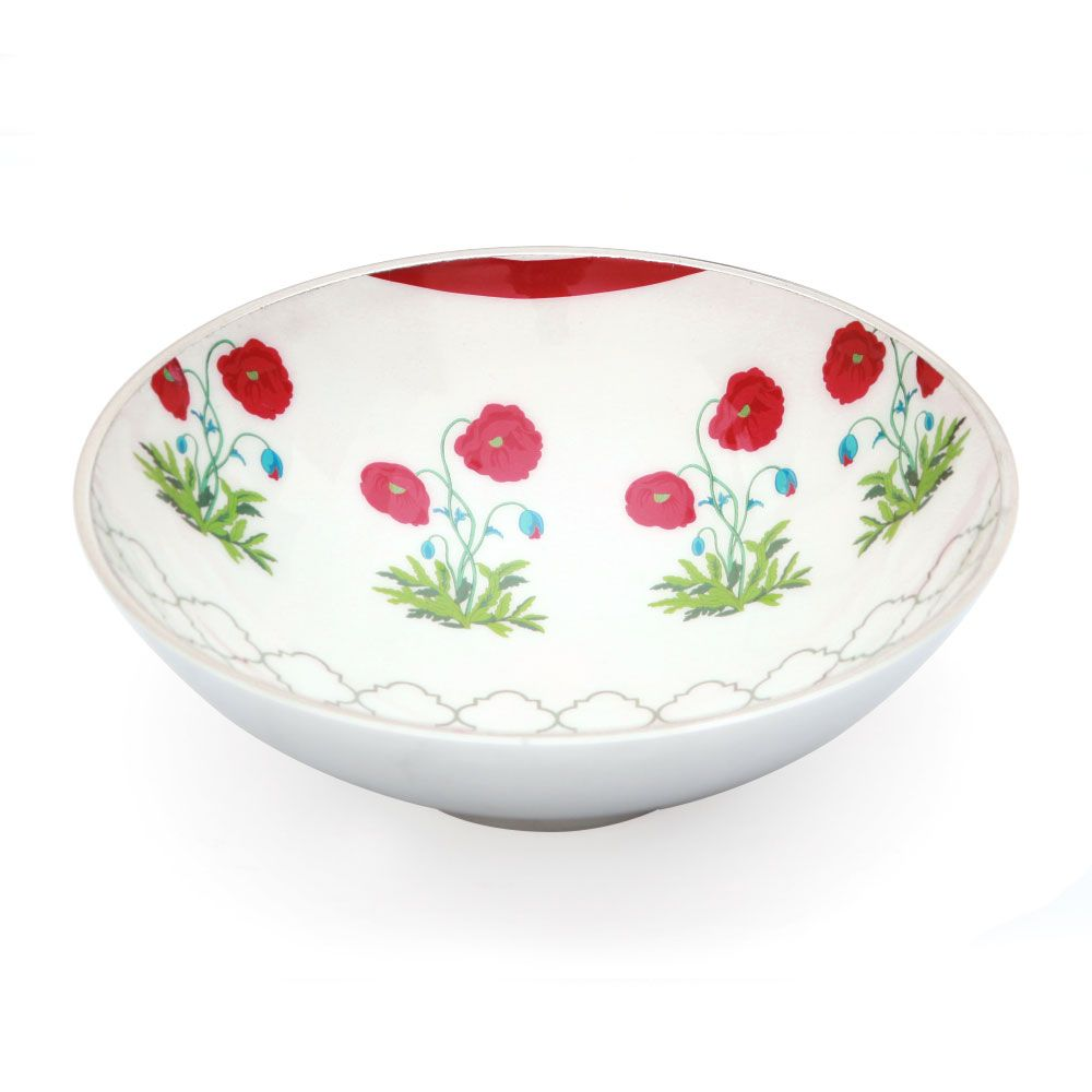 Floral Twinkles Aluminium Serving Bowl