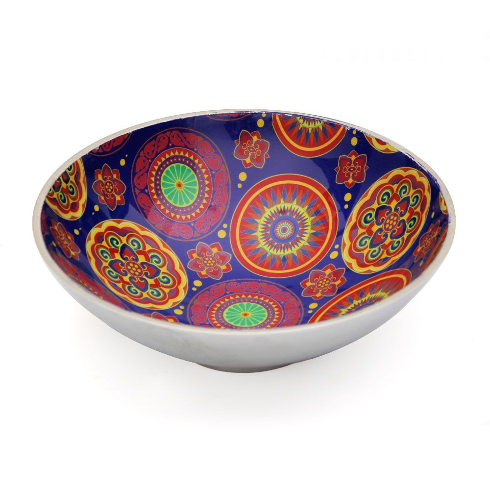 Circular Chaos Aluminium Serving Bowl