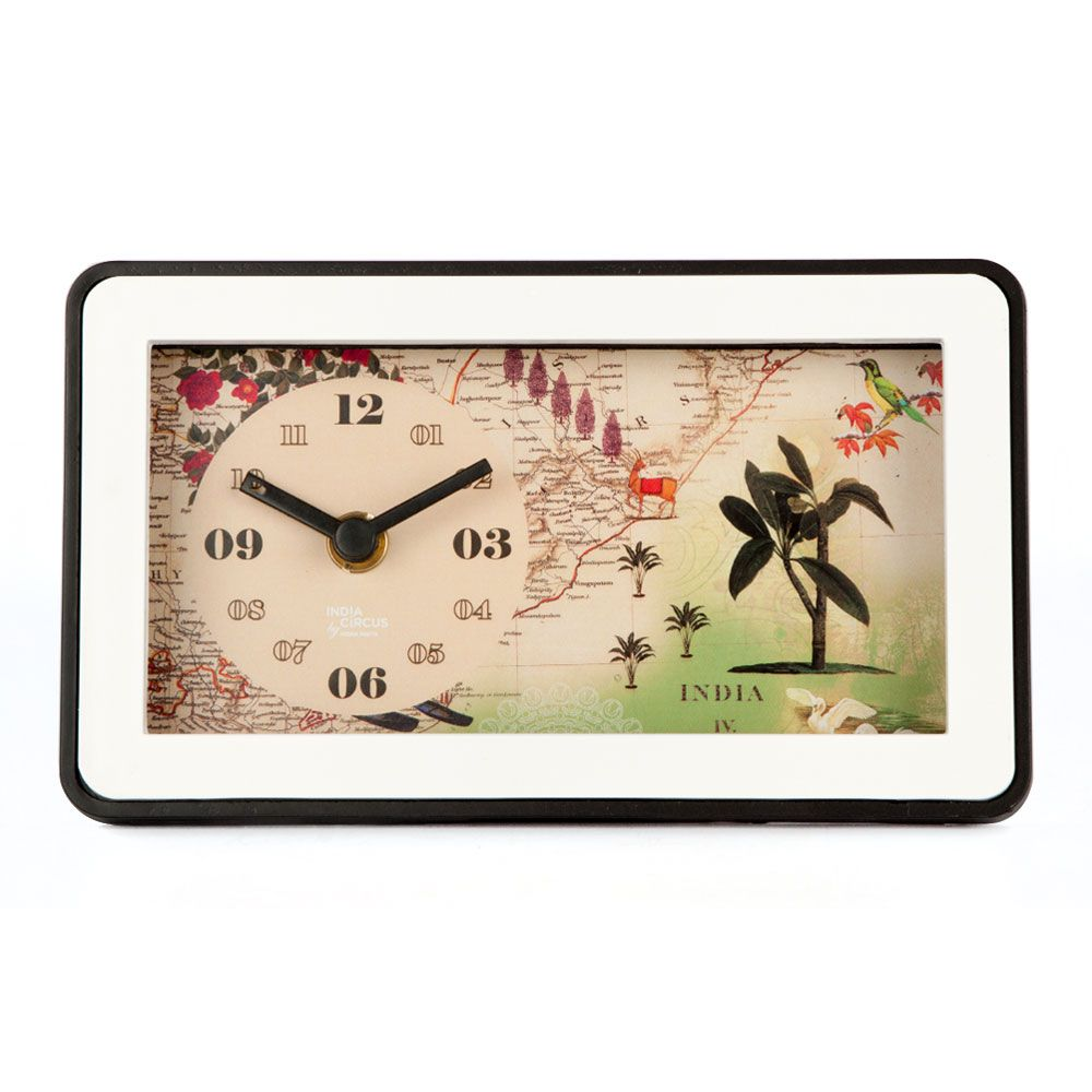 Wanderlust Table Clock