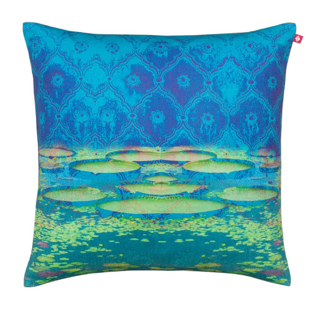 Heavenly Lake Poly Velvet Cushion Cover