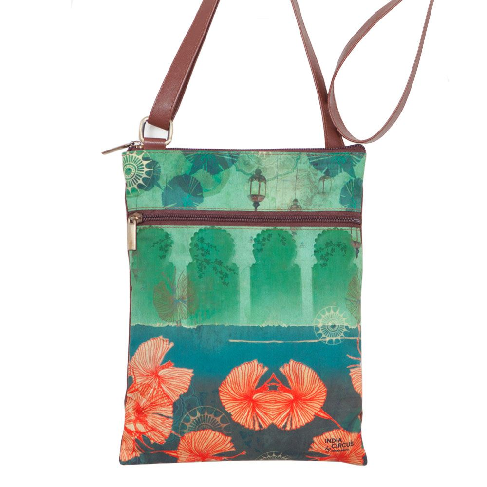 Leaves and Lanterns Sling Bag