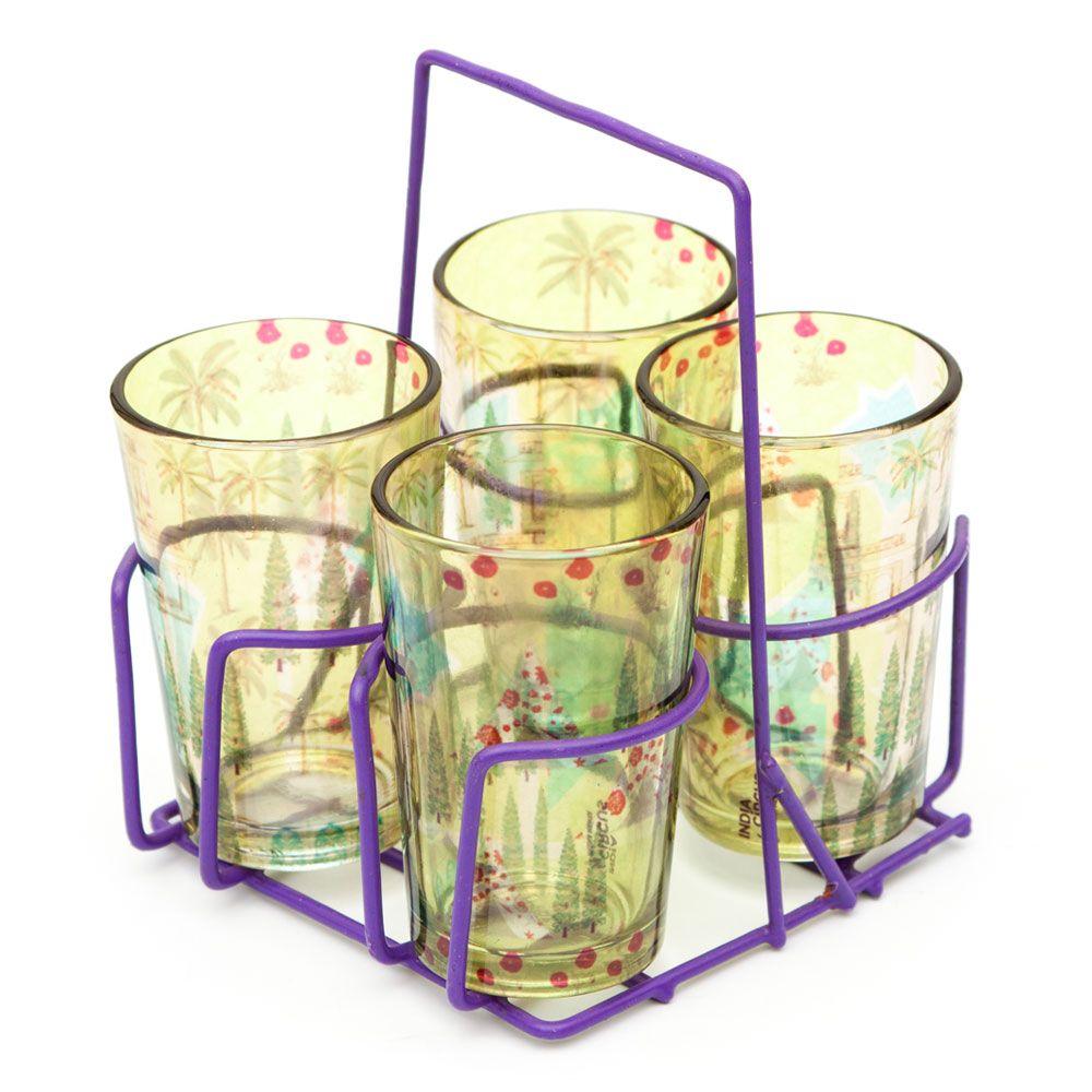 Maze Garden Chai Glasses