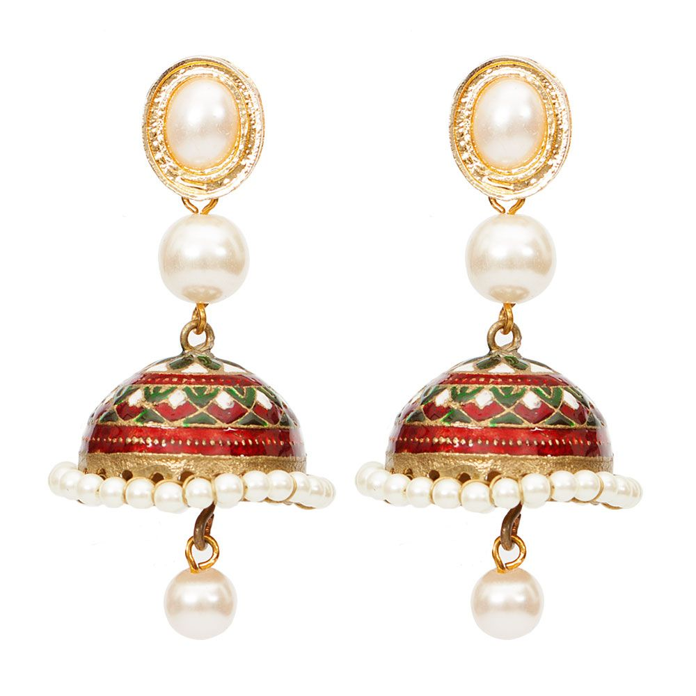 Pretty in pearl Jhumka earrings