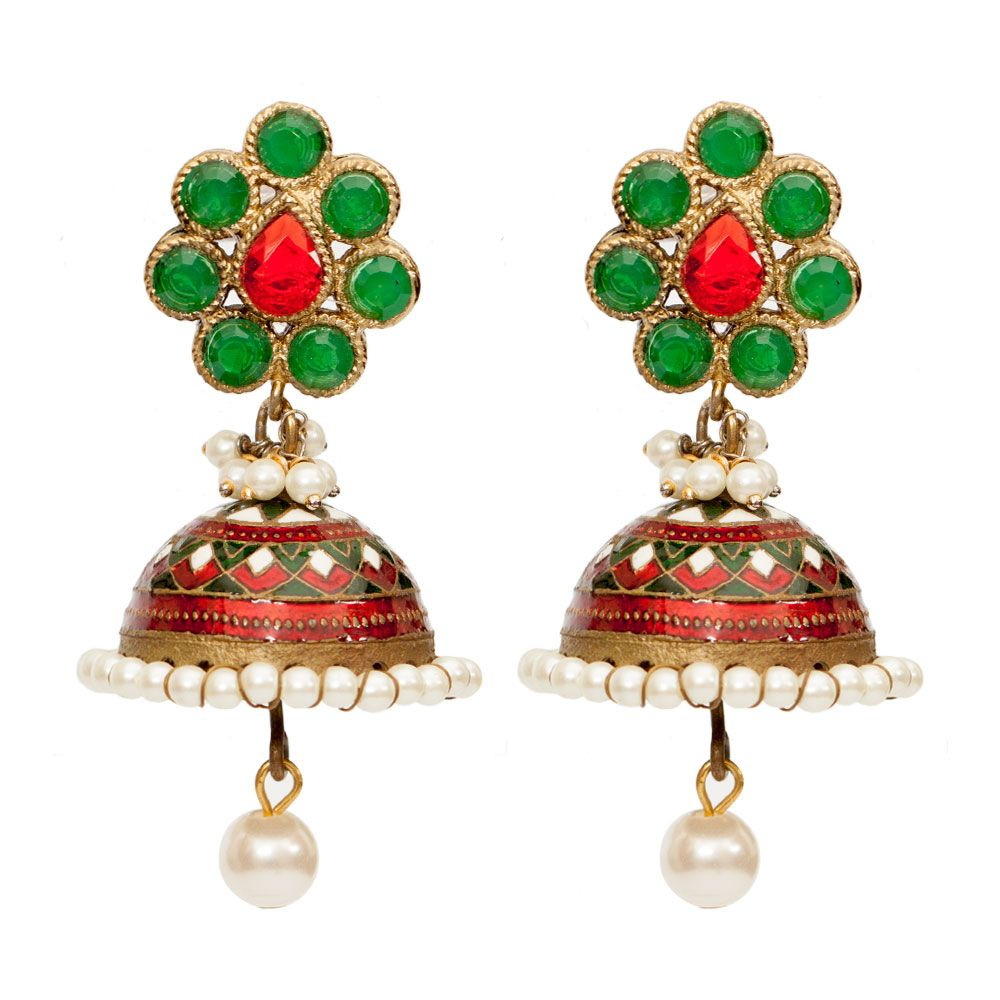 Be mine Jade Jhumka earrings