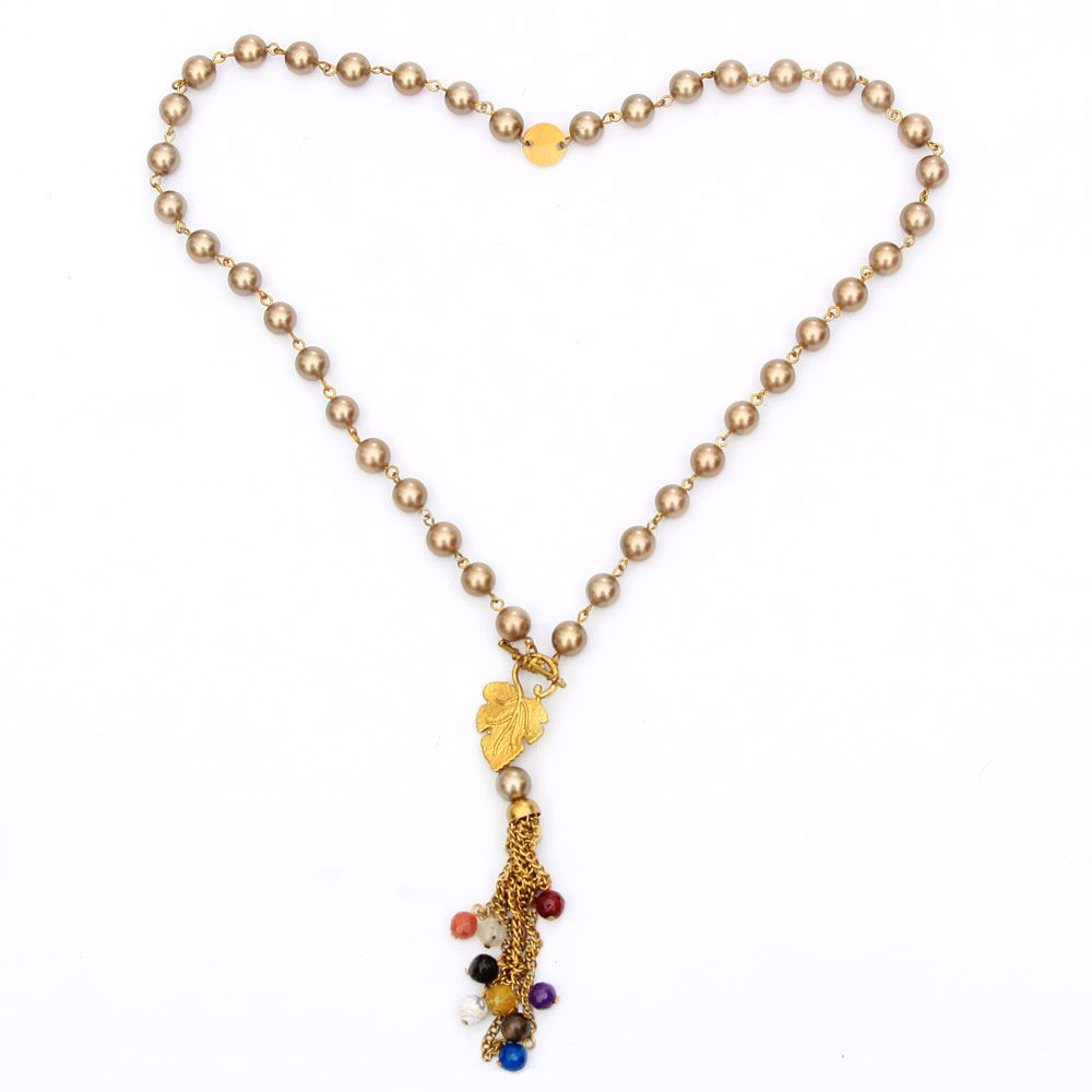 Color and Pearls necklace
