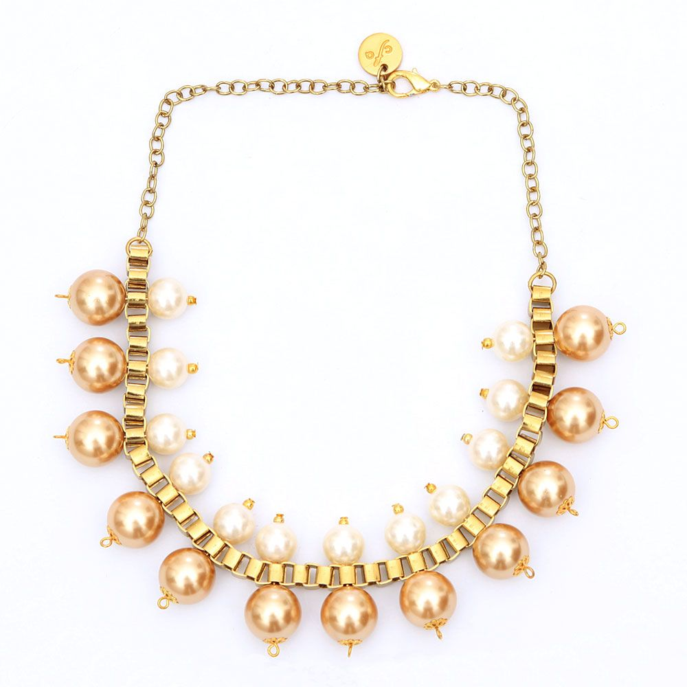Gold and iridescence necklace