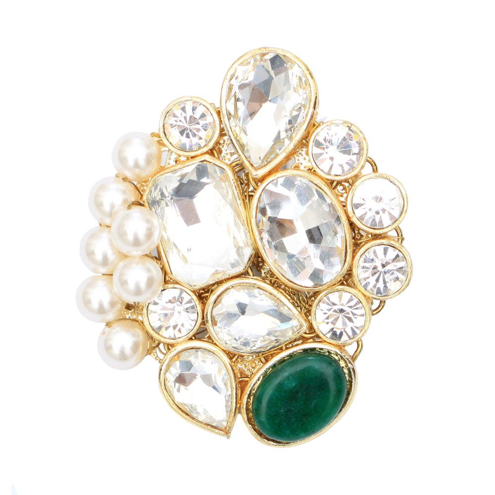 Designed with emerald and shine Brooch
