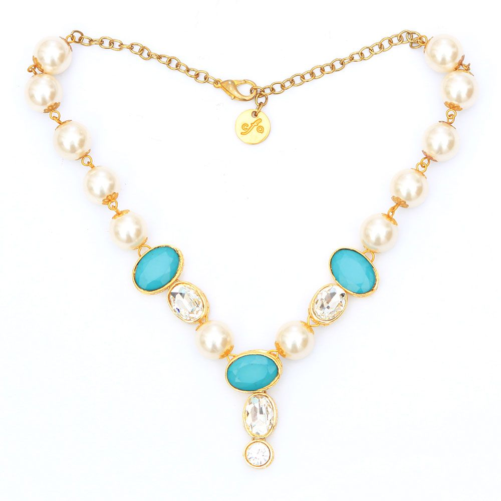 Swarovski and Turq necklace