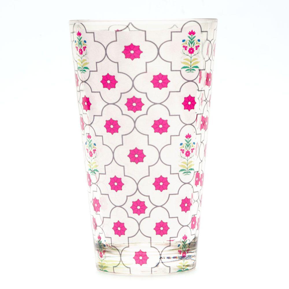 Floral Lattice Tumbler