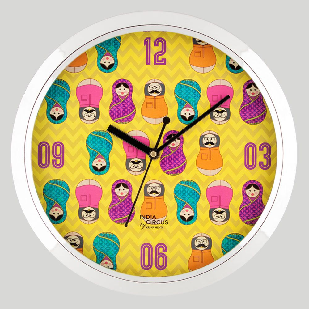 Desi Matryoshka Dolls Wall Clock