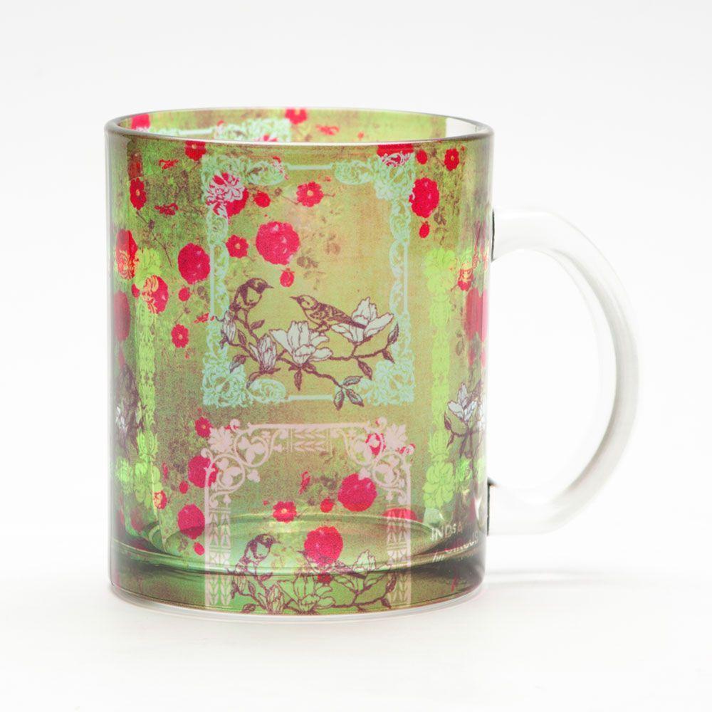 Floret Fringe Glass Mug