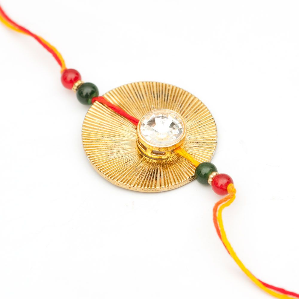 Leaf and Kundan Rakhi