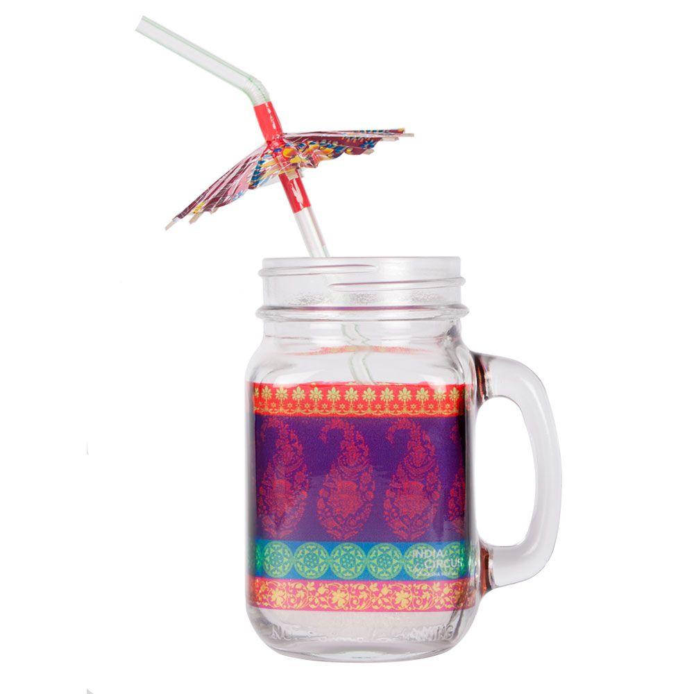 Motif Cachemire Mason Glass Jar