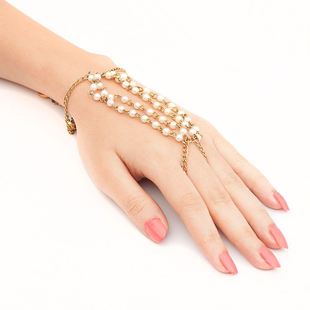 Pearl Strings Ring Bracelet