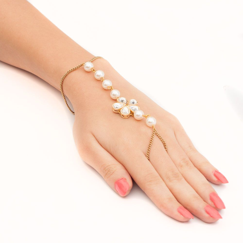 Bling and Chains Ring Bracelet
