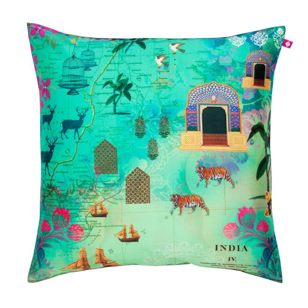 Desi  Wonderland Poly Taf Silk Cushion Cover