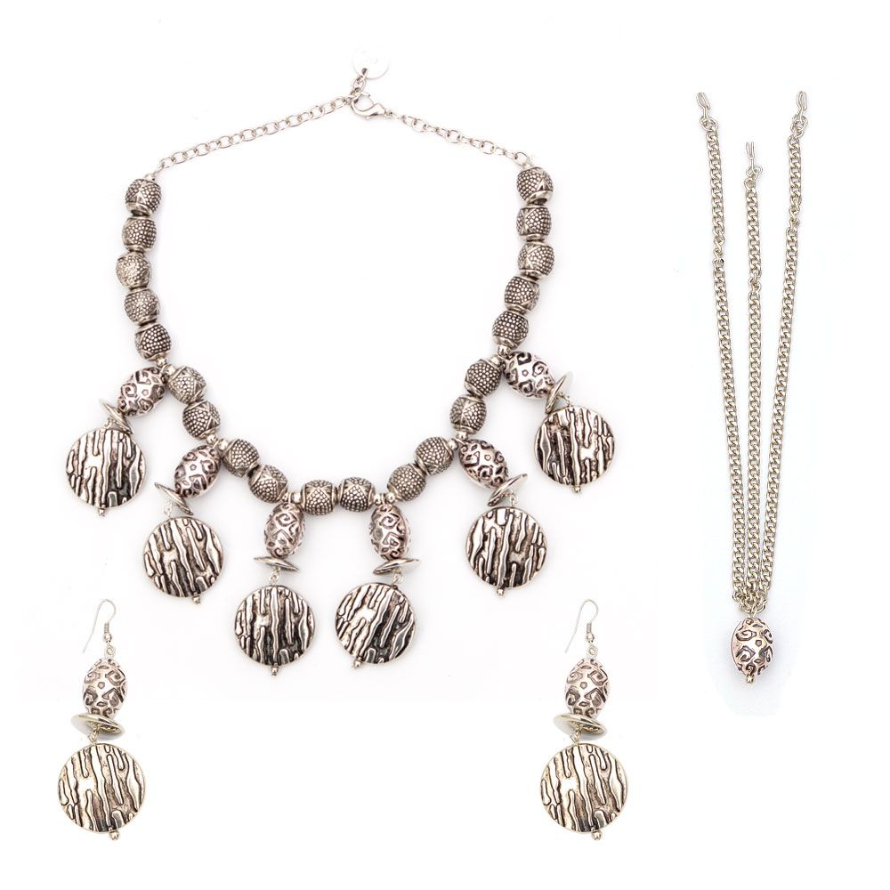 Argent Love Necklace and Earring set