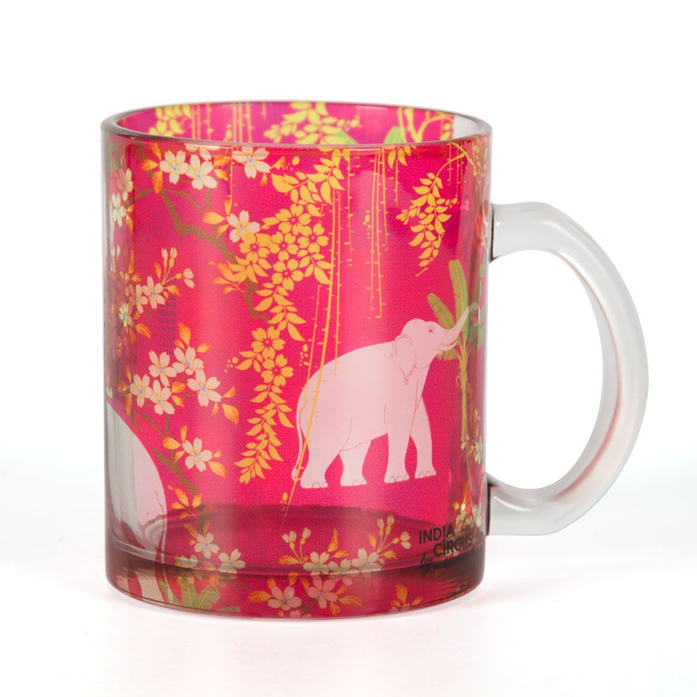 Scarlet Tusk Glass Mug