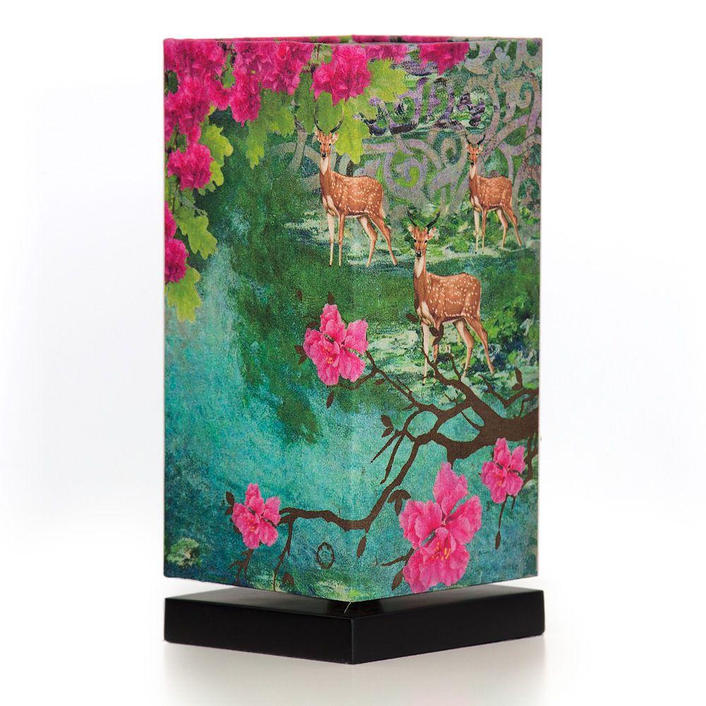 Garden of Shangrila Rectangle Table Lamp