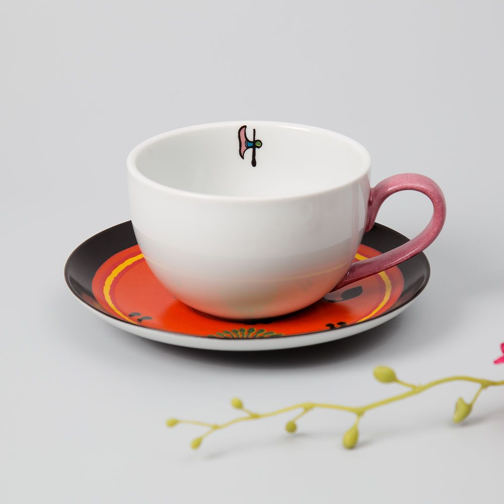Flaming Passion Cup and Saucer