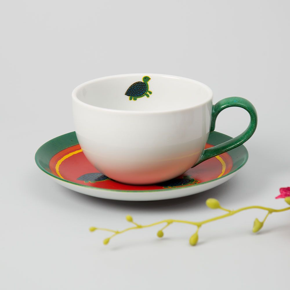 Green with Envy Cup and Saucer
