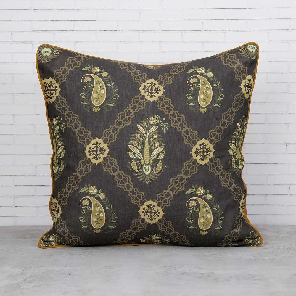 Feathers of Twilight Linen Cushion Cover