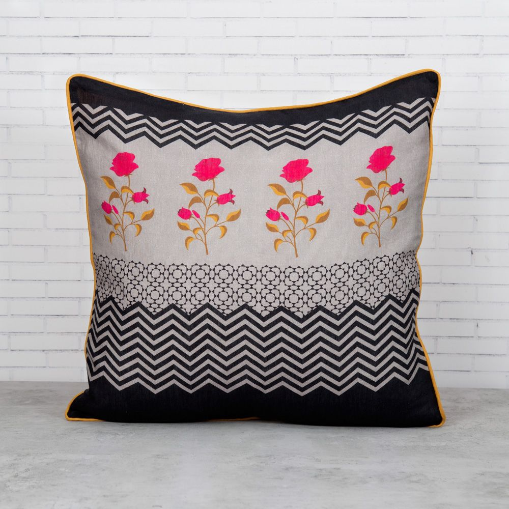 Chevron Insignia Linen Cushion Cover