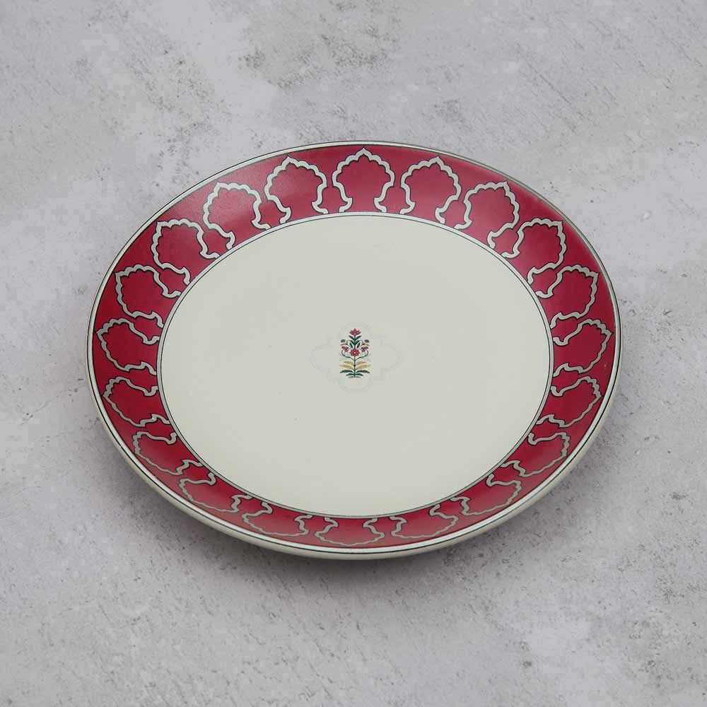Floral Lattice Quarter Plate