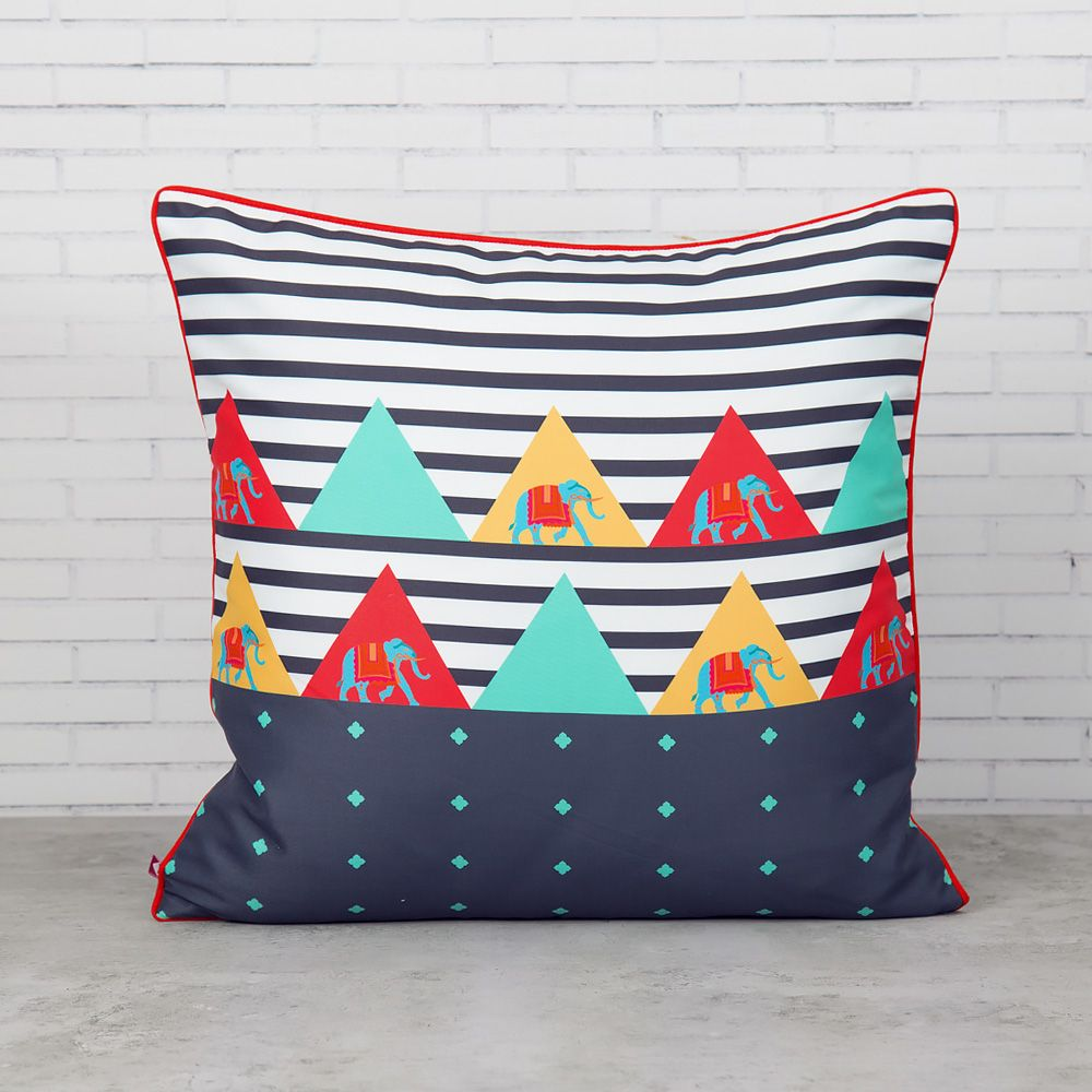 Triangular Tantrums Polyester Cushion Cover