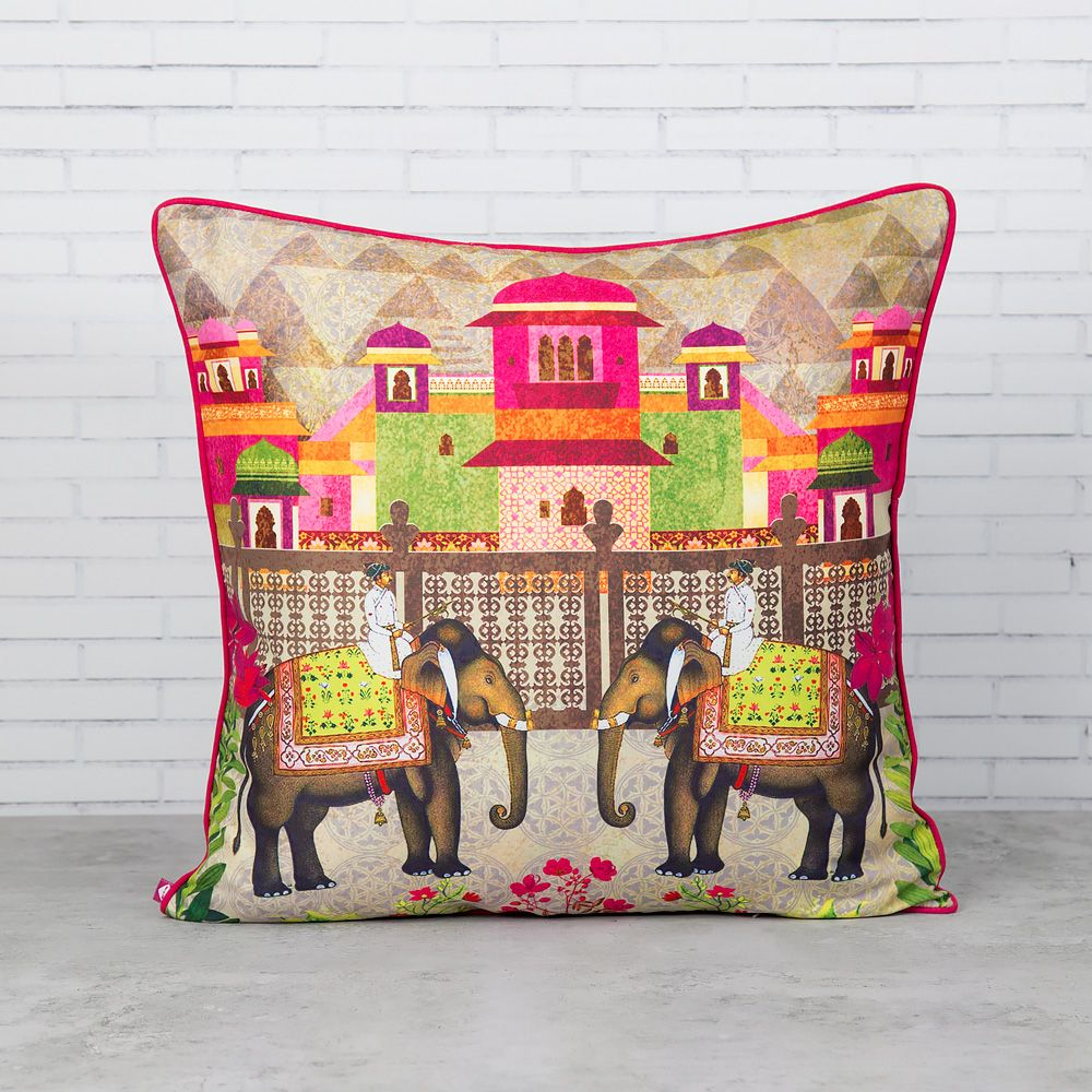 Field of Frollic Polyester Cushion Cover