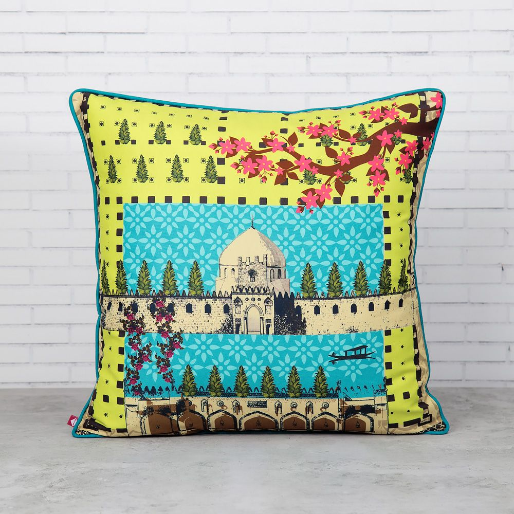 Lush Corridors Polyester Cushion Cover