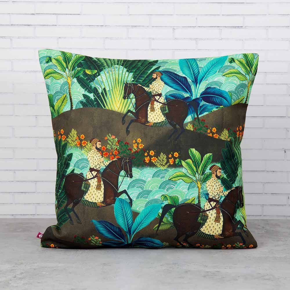 Tropical Exotica Poly Canvas Cushion Cover